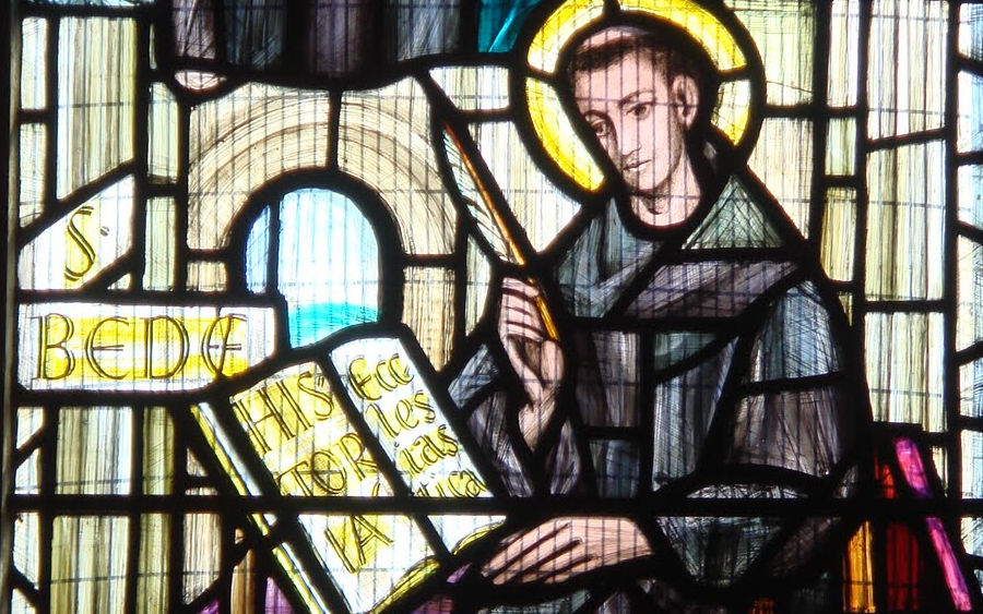 St Bede, Norwich Cathedral window